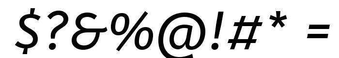 ABeeZee-Italic Font OTHER CHARS