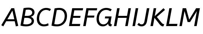 ABeeZee-Italic Font UPPERCASE