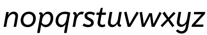 ABeeZee-Italic Font LOWERCASE