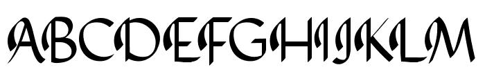 AbbasyCalligraphyTypeface Font UPPERCASE