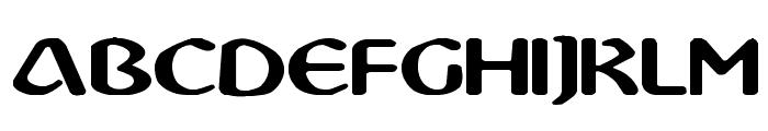 Abbey Medium Extended Font UPPERCASE