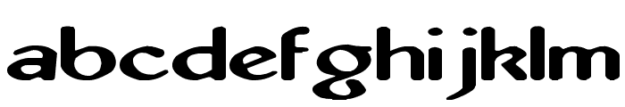 Abbey Medium Extended Font LOWERCASE