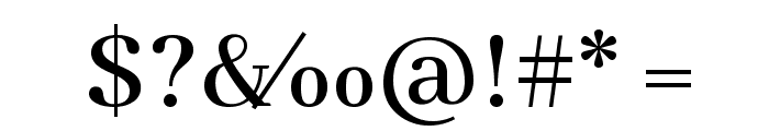 Abhaya Libre Medium Font OTHER CHARS
