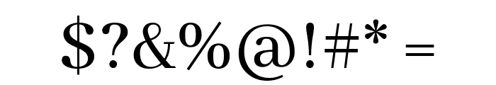 Abhaya Libre Regular Font OTHER CHARS