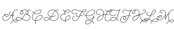 Abigail Script Demo Regular Font UPPERCASE