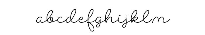 Abigail Script Demo Regular Font LOWERCASE