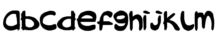 AbokiDreadlockJamSuya Font LOWERCASE
