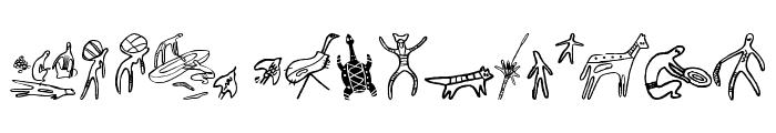 Aboriginebats One Font LOWERCASE