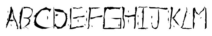 About Dead Font UPPERCASE