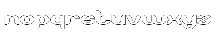 About you-Hollow Font LOWERCASE