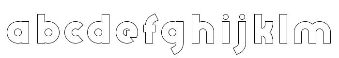 AbraxeousBoldHollow Font LOWERCASE