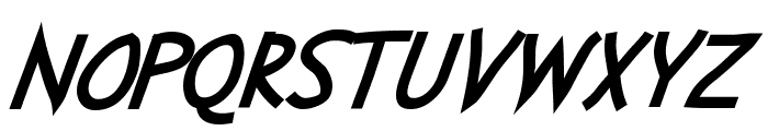 Abscissa Bold Italic Font UPPERCASE