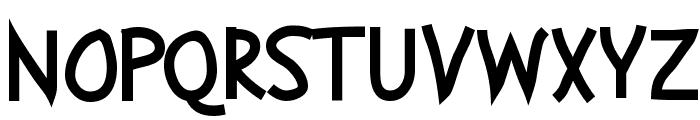 Abscissa Bold Font UPPERCASE