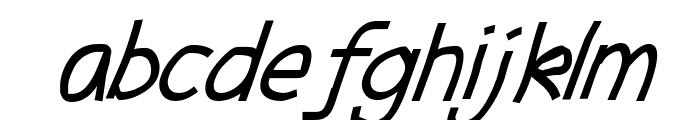 Abscissa Italic Font LOWERCASE