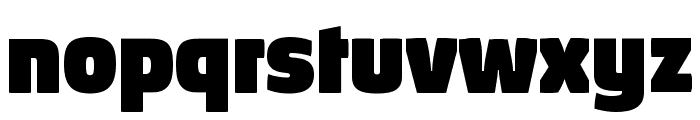 Absolut Pro Black reduced Font LOWERCASE