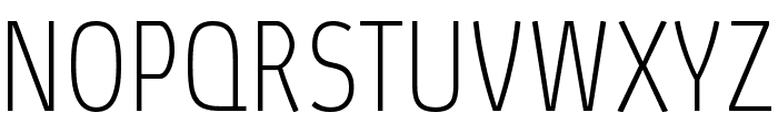 Absolut Pro Condensed Thin reduced Font UPPERCASE