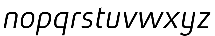 Absolut Pro Light Italic reduced Font LOWERCASE