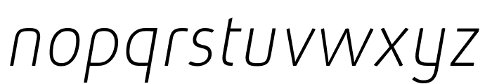 Absolut Pro Thin Italic reduced Font LOWERCASE