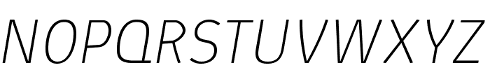 AbsolutPro-ThinIt Font UPPERCASE