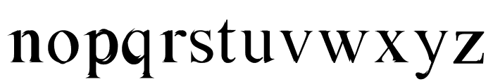 Absortile-Bold Font LOWERCASE