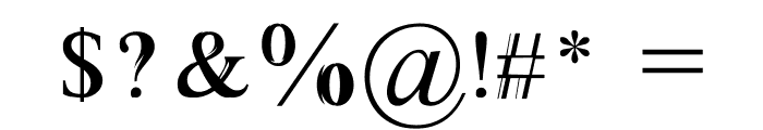 Absortile Font OTHER CHARS