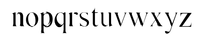 Absortile Font LOWERCASE