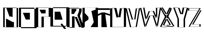 Abstract Abomination Font UPPERCASE