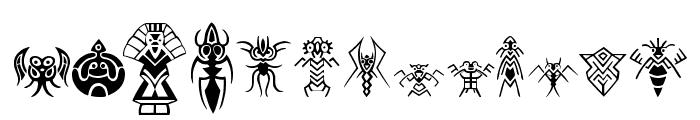 Abstract Alien Symbols Font UPPERCASE