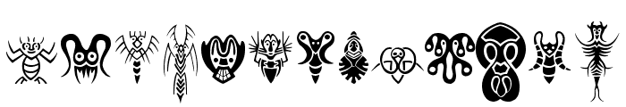 Abstract Alien Symbols Font LOWERCASE