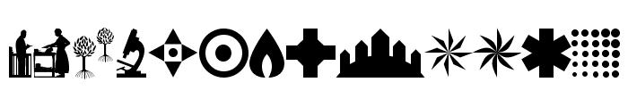 AbstractConcretLogo Font LOWERCASE