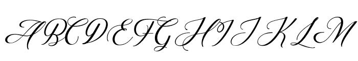 Abundant Script DEMO Regular Font UPPERCASE
