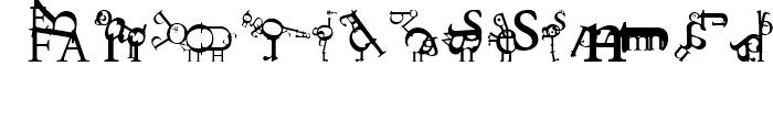 ABC Zoo English Regular Font UPPERCASE