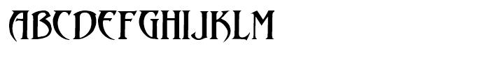 Abaddon Regular Font LOWERCASE