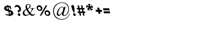 Abetka Oblique Bold Font OTHER CHARS