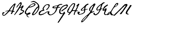 Abigail Adams Regular Font UPPERCASE