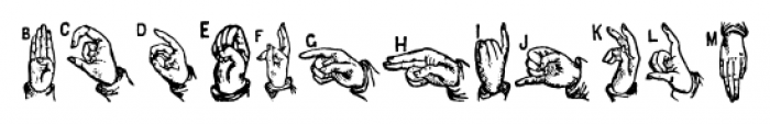ABC Hand Regular Font UPPERCASE