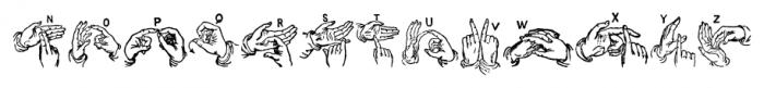 ABC Hand Regular Font LOWERCASE