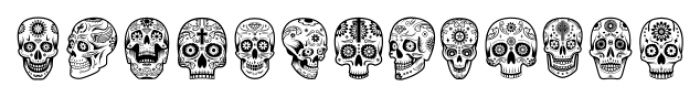 ABTS Day of the Dead Regular Font UPPERCASE