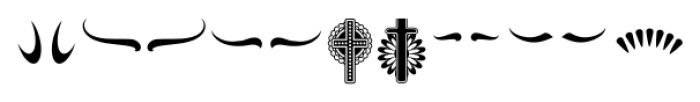 ABTS Day of the Dead Symbols Font UPPERCASE
