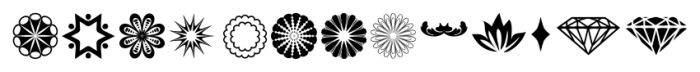 ABTS Day of the Dead Symbols Font LOWERCASE