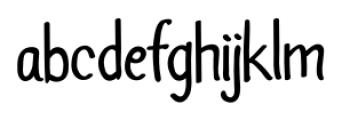 Abbazzo Comic Regular Font LOWERCASE