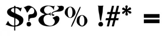 Abbott Old Style Regular Font OTHER CHARS