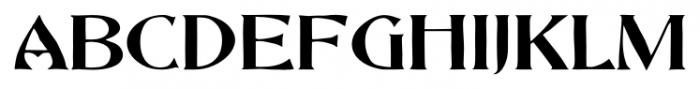 Abbott Old Style Regular Font UPPERCASE