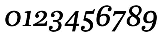 Abelard Medium Italic Font OTHER CHARS