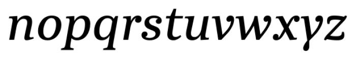 Abelard Medium Italic Font LOWERCASE