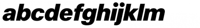 ABC Normal Super Oblique Font LOWERCASE