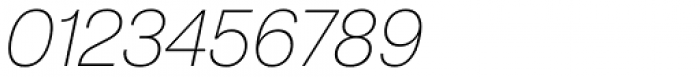 ABC Normal Thin Oblique Font OTHER CHARS