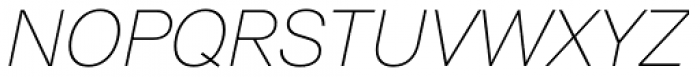 ABC Normal Thin Oblique Font UPPERCASE