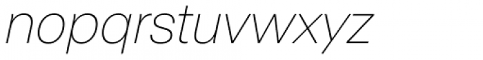 ABC Normal Thin Oblique Font LOWERCASE