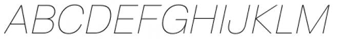 ABC Normal White Oblique Font UPPERCASE